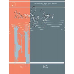 Musicology Papers, vol. XXIX, nr. 1